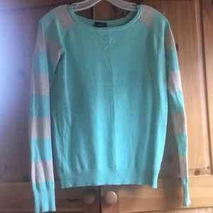 Rue 21 Mint and Cream Striped Sweater